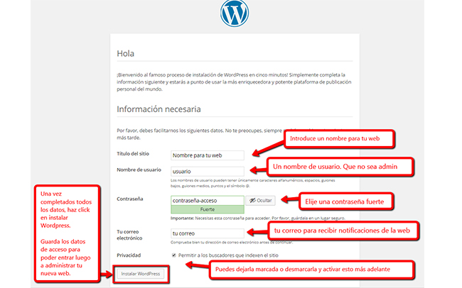 Instalar WordPress - Paso 15