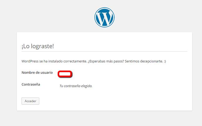 Instalar WordPress - Paso 16