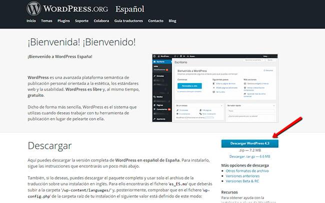 Instalar WordPress - Paso 1