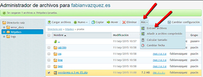 Instalar WordPress - Paso 5