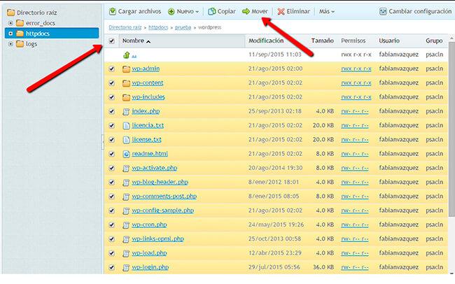 Instalar WordPress - Paso 6
