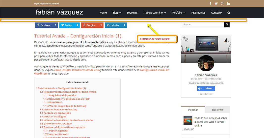 Configurar Avada - Tutorial (2) de esta plantilla Wordpress