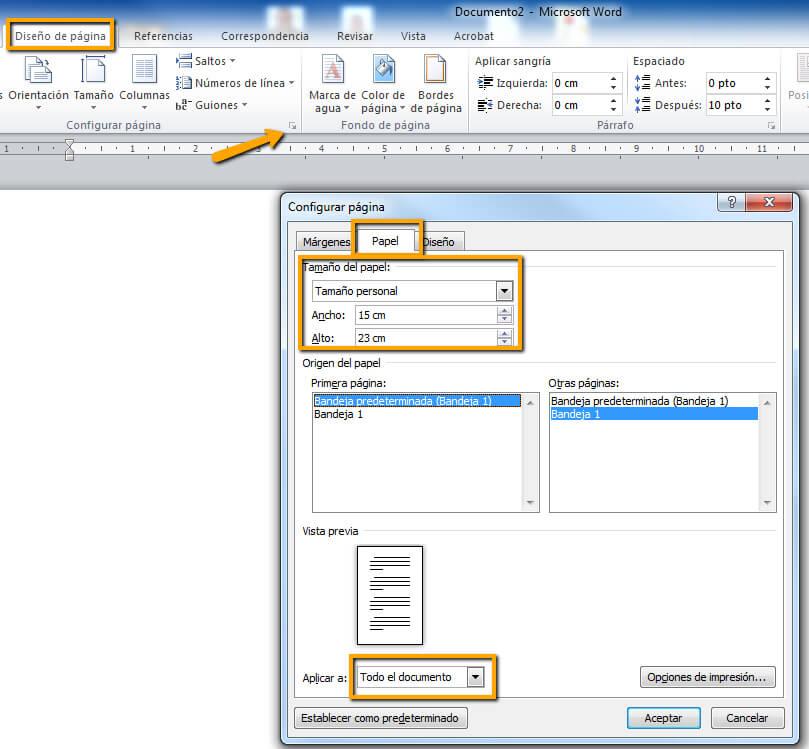 Maquetacion y configuracion de pagina