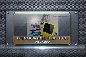 Crear una galería de fotos en Avada