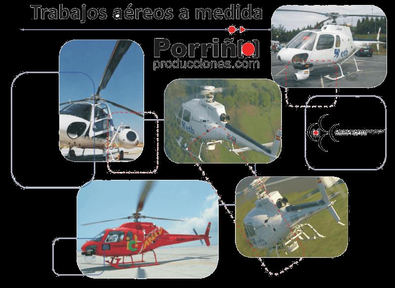 Helicópteros tripulados para imágenes de video y fotografía aéreas