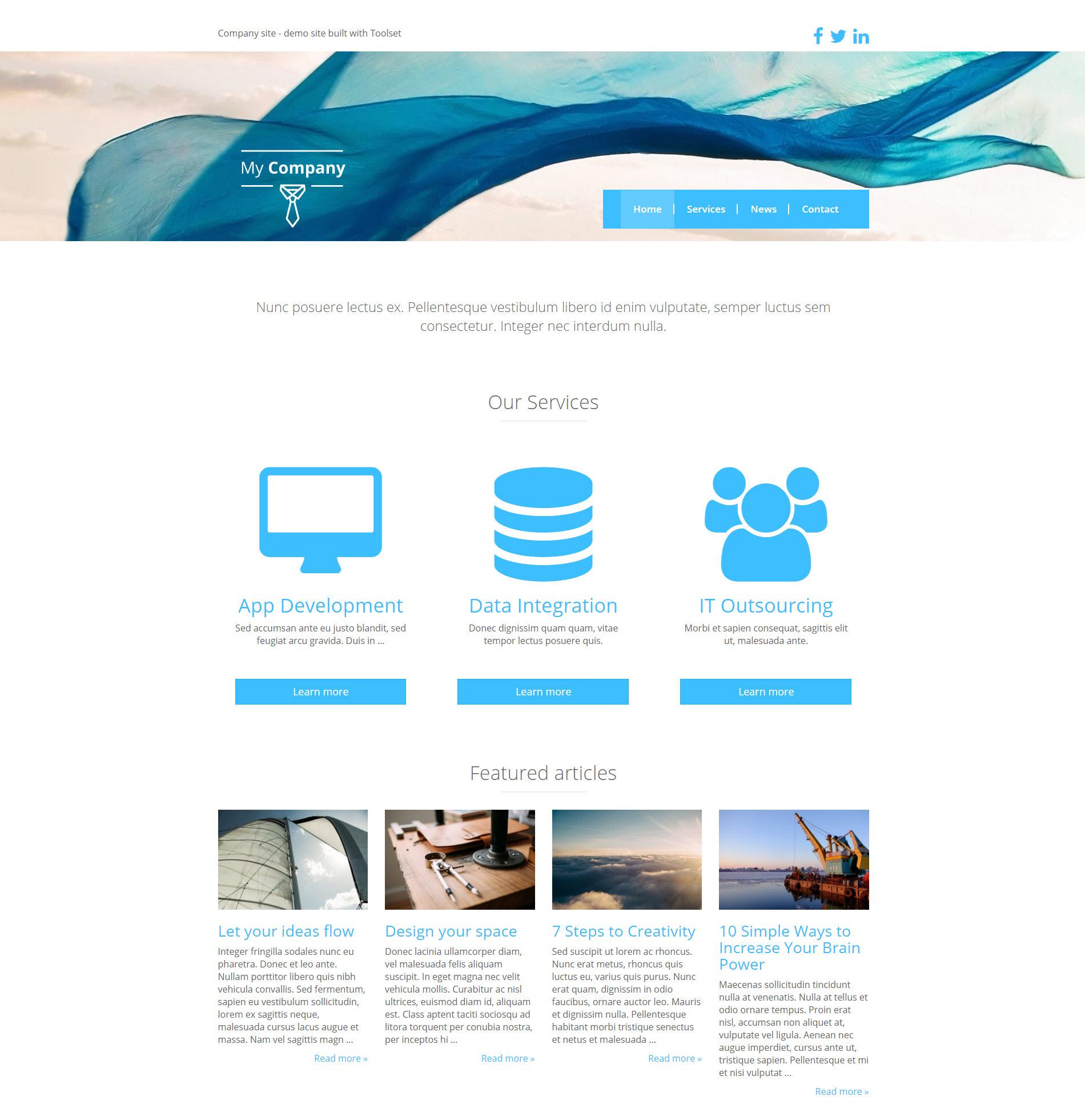 Web de referencia para una empresa