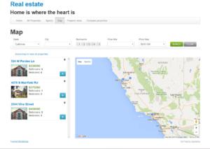 Buscar resultados en un mapa