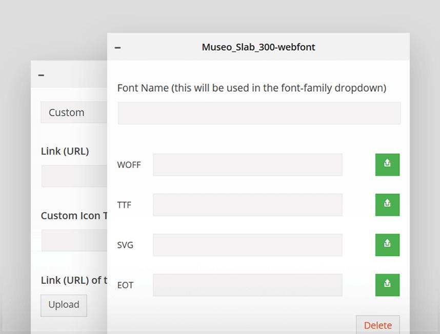 Fuentes personalizadas en Avada 4.0