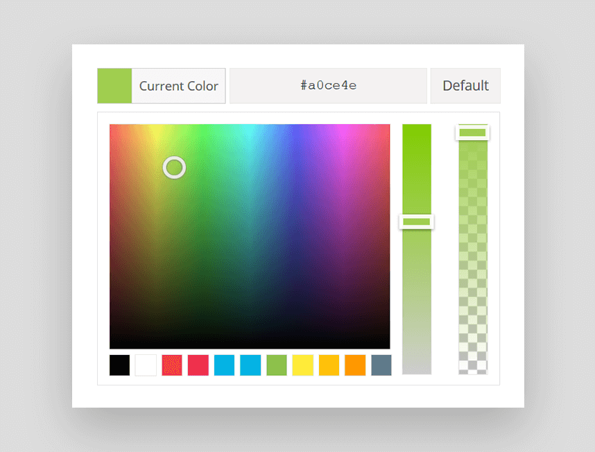 Selector de color en Avada 4.0