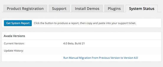 Proceso manual de Migración para actualizar Avada 4.0