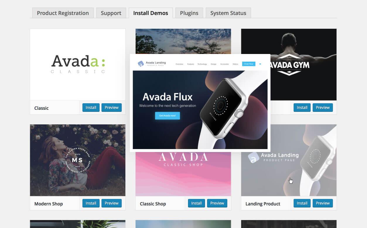 Nuevas demos en Avada 5.0